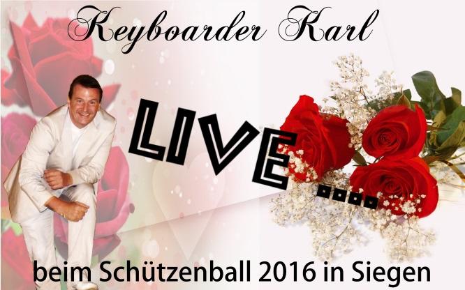 Alleinunterhalter Siegerland - Keyboarder karl Alleinunterhalter Siegen beim Winterball im Kreis Siegen - Schützenfest